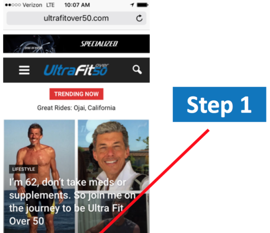 Load UltraFitOver50 to Your Phone's Desktop in 3 Easy Steps